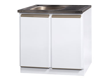 900 sink unit with stainless steel sink top