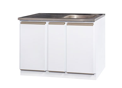 1200 sink unit with stainless steel sink top
