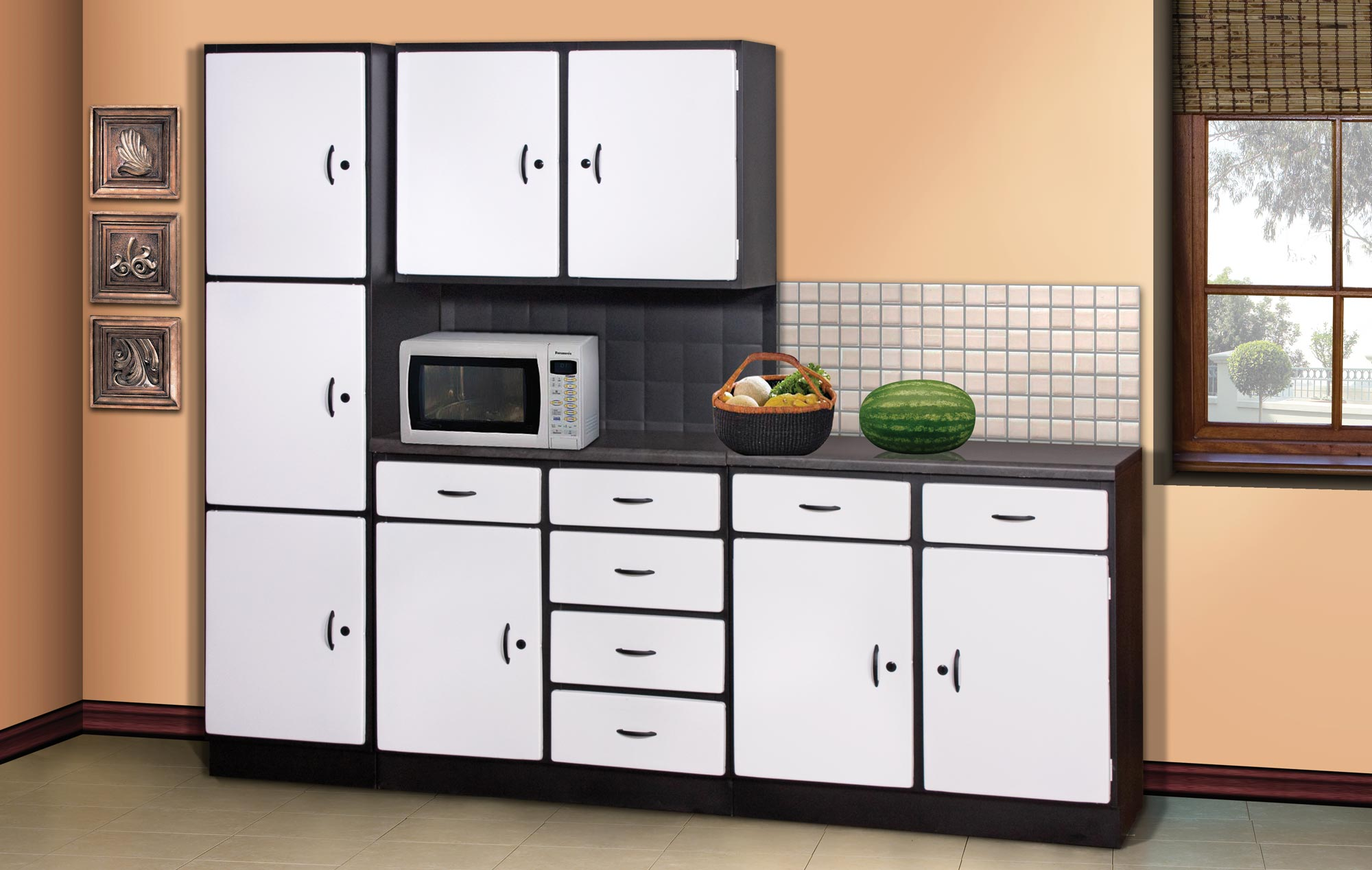 3 Piece Space Saver White Kitchen Scheme