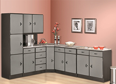 5 Piece Space Saver (Silver or White) Kitchen Scheme