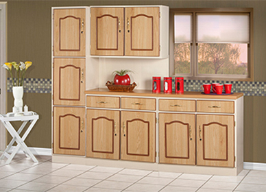 3 Piece Ashna/Carina Oak Kitchen Scheme